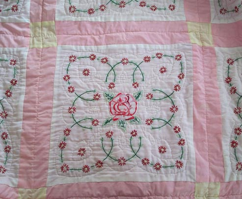 Quilt over embroidery for a baby quilt? - Generations