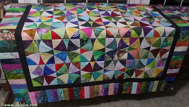 2015 Batik Winding Wayswheel Of Mystery Sofa Quilt Shirlsu
