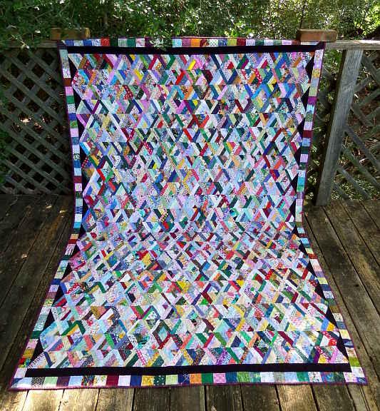 String Pyramid - Bob's Memorial Quilt
