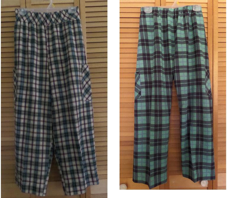 2 pajama pants